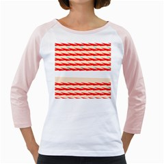 Chevron Wave Triangle Red White Circle Blue Girly Raglans