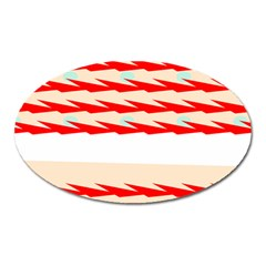 Chevron Wave Triangle Red White Circle Blue Oval Magnet