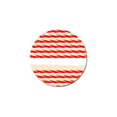 Chevron Wave Triangle Red White Circle Blue Golf Ball Marker (10 pack)