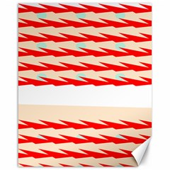 Chevron Wave Triangle Red White Circle Blue Canvas 16  x 20