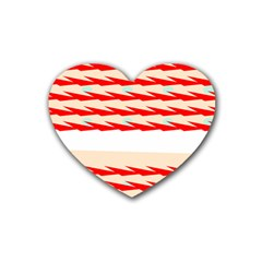 Chevron Wave Triangle Red White Circle Blue Heart Coaster (4 Pack)