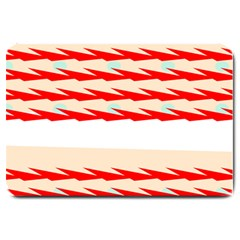 Chevron Wave Triangle Red White Circle Blue Large Doormat