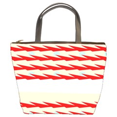 Chevron Wave Triangle Red White Circle Blue Bucket Bags