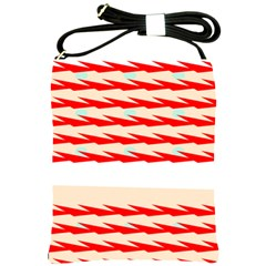 Chevron Wave Triangle Red White Circle Blue Shoulder Sling Bags