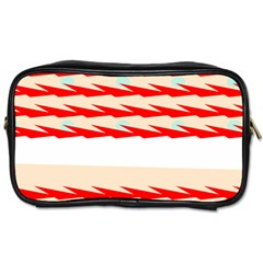 Chevron Wave Triangle Red White Circle Blue Toiletries Bags