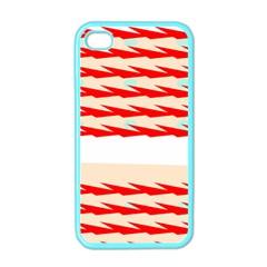 Chevron Wave Triangle Red White Circle Blue Apple iPhone 4 Case (Color)