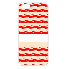 Chevron Wave Triangle Red White Circle Blue Apple iPhone 5 Seamless Case (White)