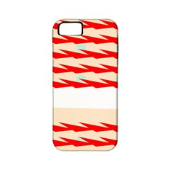 Chevron Wave Triangle Red White Circle Blue Apple Iphone 5 Classic Hardshell Case (pc+silicone)