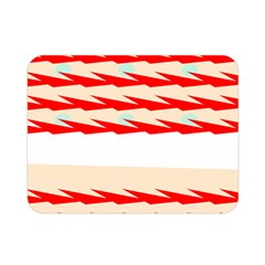 Chevron Wave Triangle Red White Circle Blue Double Sided Flano Blanket (Mini)