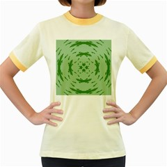 Green Hole Women s Fitted Ringer T Shirts