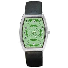 Green Hole Barrel Style Metal Watch