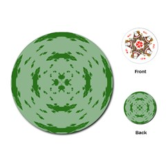 Green Hole Playing Cards (Round)
