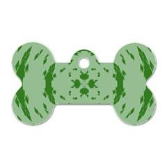 Green Hole Dog Tag Bone (Two Sides)
