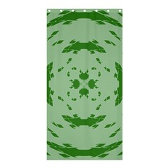 Green Hole Shower Curtain 36  x 72  (Stall)
