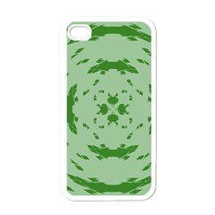 Green Hole Apple iPhone 4 Case (White)