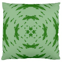 Green Hole Standard Flano Cushion Case (two Sides)