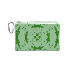 Green Hole Canvas Cosmetic Bag (S)