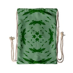 Green Hole Drawstring Bag (Small)