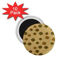 Compass Circle Brown 1 75  Magnets (10 Pack)