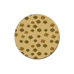Compass Circle Brown Magnet 3  (round)