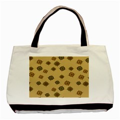 Compass Circle Brown Basic Tote Bag (Two Sides)