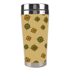 Compass Circle Brown Stainless Steel Travel Tumblers