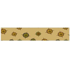 Compass Circle Brown Flano Scarf (Large)