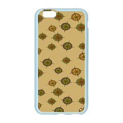 Compass Circle Brown Apple Seamless iPhone 6/6S Case (Color)