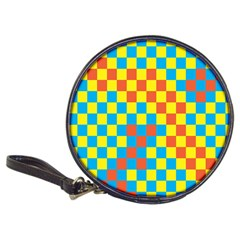 Optical Illusions Plaid Line Yellow Blue Red Flag Classic 20-CD Wallets