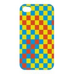 Optical Illusions Plaid Line Yellow Blue Red Flag Apple Iphone 4/4s Hardshell Case