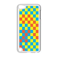 Optical Illusions Plaid Line Yellow Blue Red Flag Apple iPod Touch 5 Case (White)