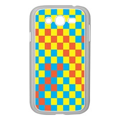 Optical Illusions Plaid Line Yellow Blue Red Flag Samsung Galaxy Grand DUOS I9082 Case (White)
