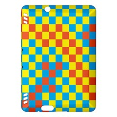 Optical Illusions Plaid Line Yellow Blue Red Flag Kindle Fire HDX Hardshell Case