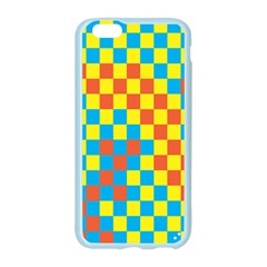 Optical Illusions Plaid Line Yellow Blue Red Flag Apple Seamless iPhone 6/6S Case (Color)