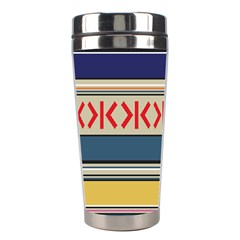 Original Code Rainbow Color Chevron Wave Line Stainless Steel Travel Tumblers