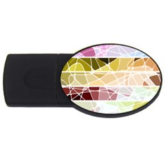 Geometric Mosaic Line Rainbow Usb Flash Drive Oval (2 Gb)