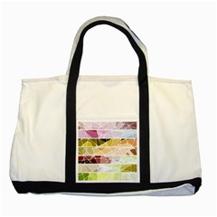 Geometric Mosaic Line Rainbow Two Tone Tote Bag