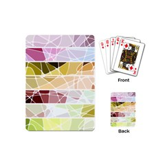 Geometric Mosaic Line Rainbow Playing Cards (Mini)