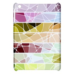 Geometric Mosaic Line Rainbow Apple iPad Mini Hardshell Case
