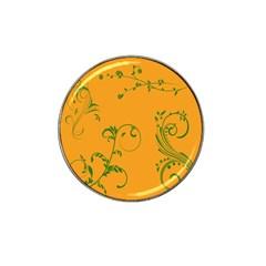 Nature Leaf Green Orange Hat Clip Ball Marker (10 pack)