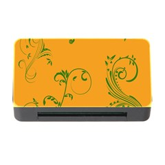 Nature Leaf Green Orange Memory Card Reader with CF