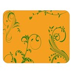 Nature Leaf Green Orange Double Sided Flano Blanket (Large)  80 x60 Blanket Front