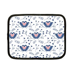 Heart Love Valentine Flower Floral Purple Netbook Case (Small)