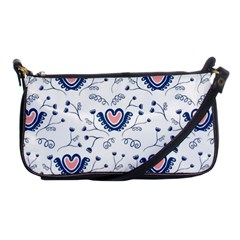 Heart Love Valentine Flower Floral Purple Shoulder Clutch Bags