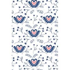 Heart Love Valentine Flower Floral Purple 5.5  x 8.5  Notebooks