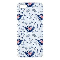 Heart Love Valentine Flower Floral Purple Apple iPhone 5 Premium Hardshell Case