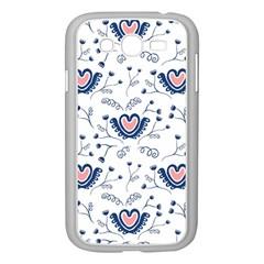 Heart Love Valentine Flower Floral Purple Samsung Galaxy Grand DUOS I9082 Case (White)