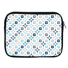 Plaid Line Chevron Wave Blue Grey Circle Apple iPad 2/3/4 Zipper Cases