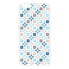 Plaid Line Chevron Wave Blue Grey Circle Apple Seamless iPhone 6 Plus/6S Plus Case (Transparent)