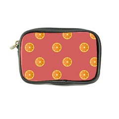 Oranges Lime Fruit Red Circle Coin Purse